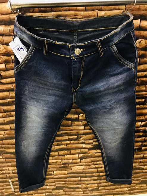 MENS ELEPHANT BLACK RIPPED JEANS - MADE IN INDIA