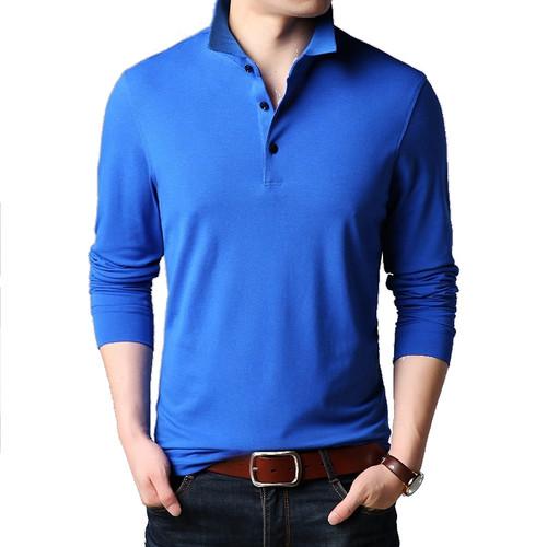 Men's polo shirt 100% cotton long sleeve dress shirt - MADE IN CHINA