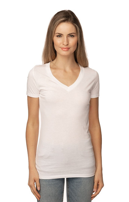 Womens Viscose Hemp Organic V Neck MADE IN US - PN - 64030 : 60% Viscose Hemp 40% Organic Cotton Jersey