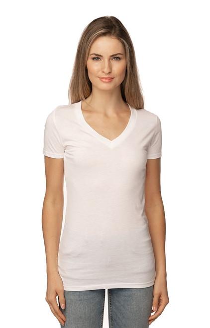 Womens Viscose Hemp Organic V Neck MADE IN US - PN - 64030 : 60% Viscose Hemp 40% Organic Cotton Jersey