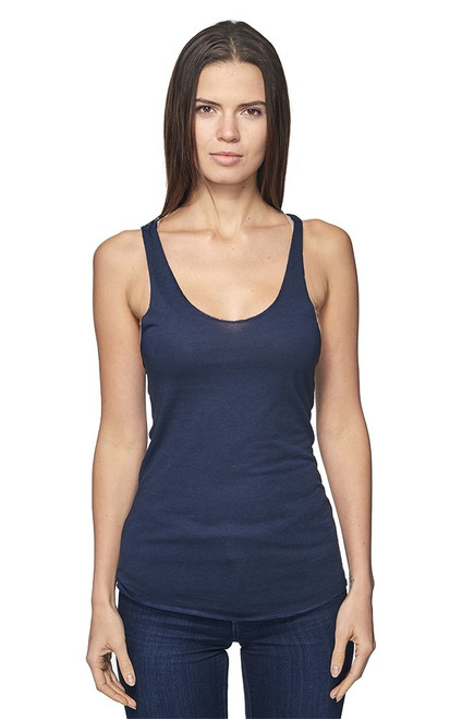 Women's Viscose Bamboo Organic Raw Edge Tank Top - PN 73008 - MADE IN US - 70% Viscose Bamboo 30% Organic Cotton