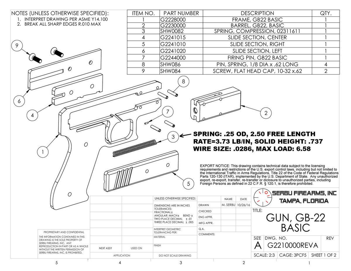 Pistol Parts Diagram