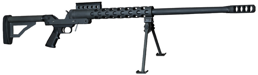 "Standard 29.5"" Barrel model of the RN-50 shown with bipod and buttstock (sold separately)."
