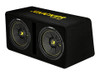 "Kicker Dual 12"" CompC 2 Ohm Subwoofer Enclosure"