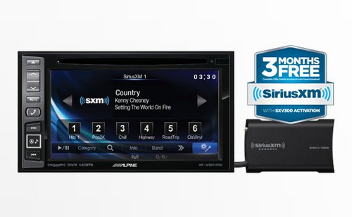 Alpine In-Dash Car DVD/GPS Navigation Receiver With SiriusXM Tuner