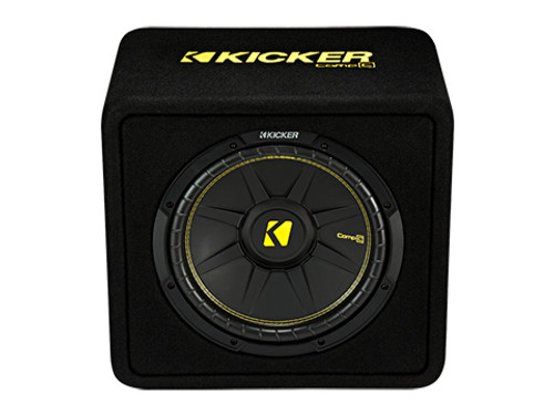 """Kicker 12"""" CompC 2 Ohm Single Subwoofer Enclosure"""