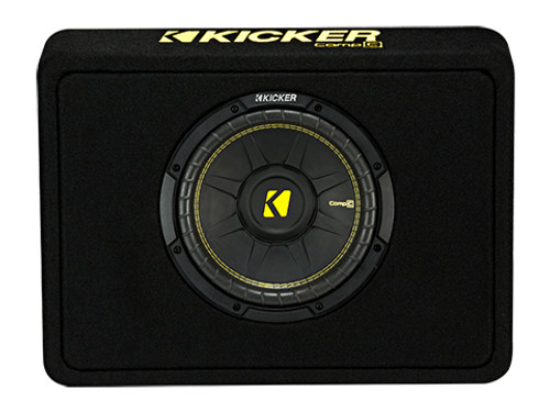 Kicker 10 inch CompC 2 Ohm Single Subwoofer Enclosure