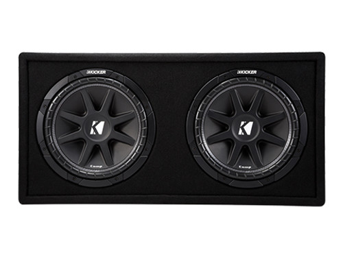 Kicker Comp 12-Inch Dual Subwoofer Enclosure - 43DC122