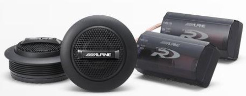 "Alpine Type-R 1"" Silk Dome Tweeters - SPR-10TW"