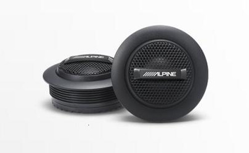 "Alpine SPS-110TW Type-S 1"" Silk Dome Tweeter Set"