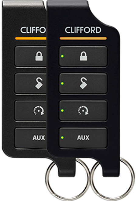 Clifford 5806X LED 2-Way Car Security with Remote Start System
