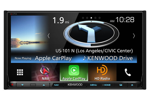 "Kenwood Excelon 2 Din AV Navigation System with Bluetooth, 6.95"" LCD Display and HD Radio"