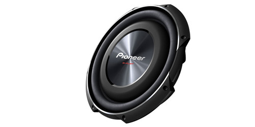 "Pioneer 12"" Shallow-Mount Subwoofer with 1,500 Watts Max. Power"