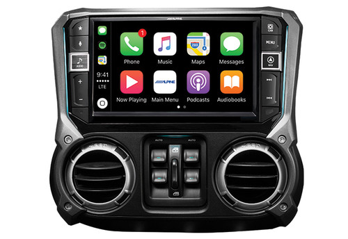 Alpine 9-Inch Mech-Less In-Dash For Jeep