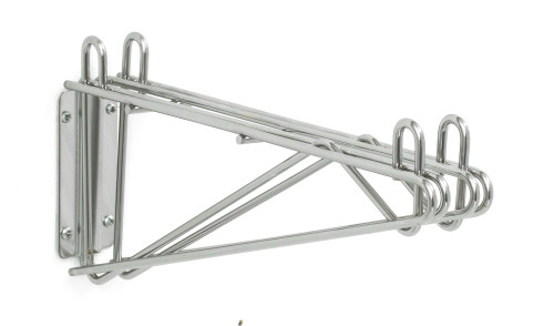 Olympic J2WD14C Direct Wall Mount, Double Support, Chrome, 14""