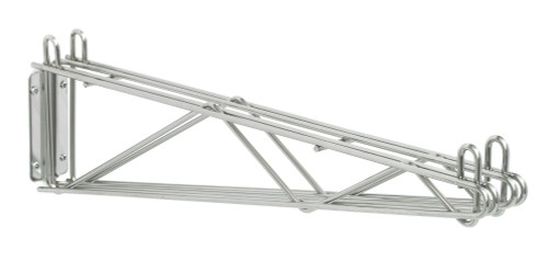 Olympic J2WD24C Direct Wall Mount, Double Support, Chrome, 24""