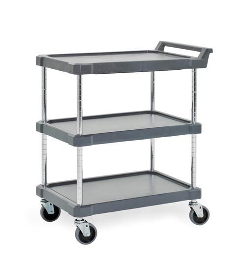 """Olympic J16UC3 3-Shelf Polymer Utility Cart, 18"""" x 28"""""""