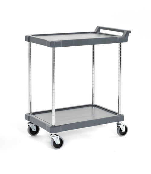 "Olympic J16UC2 2-Shelf Polymer Utility Cart, 18"" x 28"""