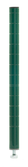Olympic J13K Stationary Wire Shelving Post, Green Epoxy, 13""