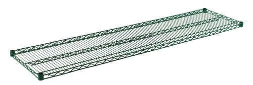 "Olympic J1872K Wire Shelf, Green Epoxy, 18"" x 72"""
