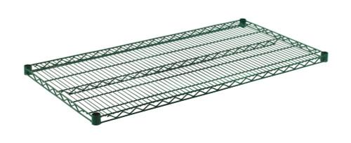 """Olympic J2448K Wire Shelf, Green Epoxy, 24"""" x 48"""""""