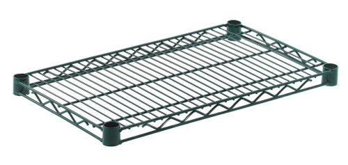 "Olympic J1424K Wire Shelf, Green Epoxy, 14"" x 24"""