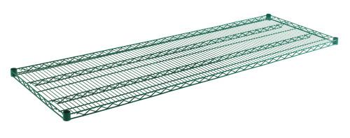 """Olympic J2472K Wire Shelf, Green Epoxy, 24"""" x 72"""""""