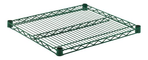 """Olympic J2124K Wire Shelf, Green Epoxy, 21"""" x 24"""""""