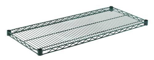 """Olympic J1842K Wire Shelf, Green Epoxy, 18"""" x 42"""""""
