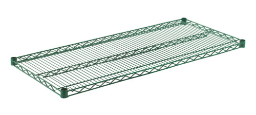 """Olympic J2148K Wire Shelf, Green Epoxy, 21"""" x 48"""""""