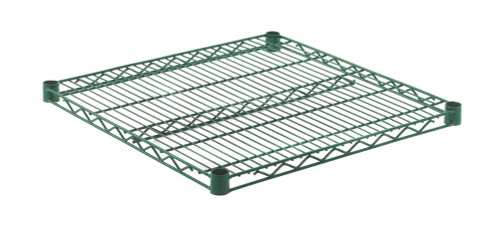 "Olympic J2424K Wire Shelf, Green Epoxy, 24"" x 24"""