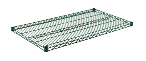 "Olympic J2442K Wire Shelf, Green Epoxy, 24"" x 42"""