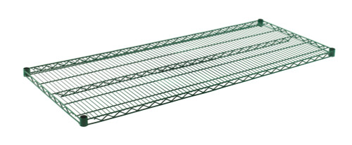 "Olympic J2460K Wire Shelf, Green Epoxy, 24"" x 60"""