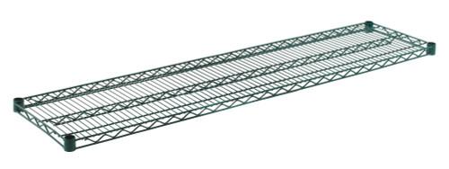 """Olympic J1460K Wire Shelf, Green Epoxy, 14"""" x 60"""""""