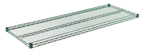 """Olympic J2160K Wire Shelf, Green Epoxy, 21"""" x 60"""""""