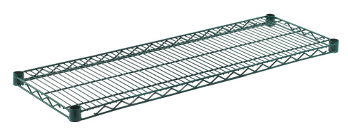 "Olympic J1442K Wire Shelf, Green Epoxy, 14"" x 42"""