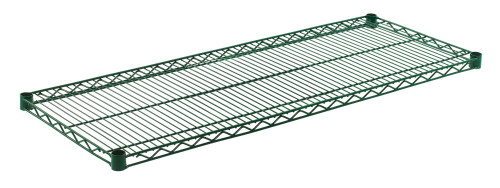 "Olympic J1848K Wire Shelf, Green Epoxy, 18"" x 48"""