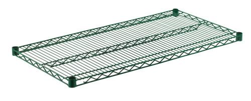 """Olympic J2142K Wire Shelf, Green Epoxy, 21"""" x 42"""""""