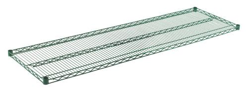 """Olympic J2172K Wire Shelf, Green Epoxy, 21"""" x 72"""""""
