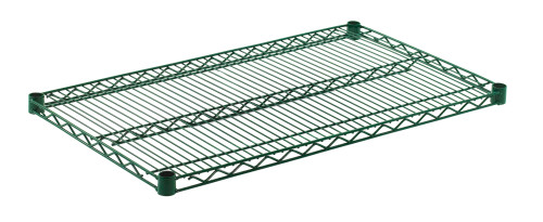 "Olympic J2136K Wire Shelf, Green Epoxy, 21"" x 36"""