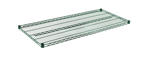 "Olympic J2454K Wire Shelf, Green Epoxy, 24"" x 54"""