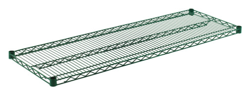 "Olympic J1854K Wire Shelf, Green Epoxy, 18"" x 54"""