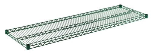 "Olympic J1860K Wire Shelf, Green Epoxy, 18"" x 60"""