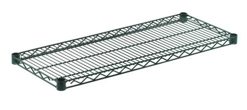 "Olympic J1436K Wire Shelf, Green Epoxy, 14"" x 36"""