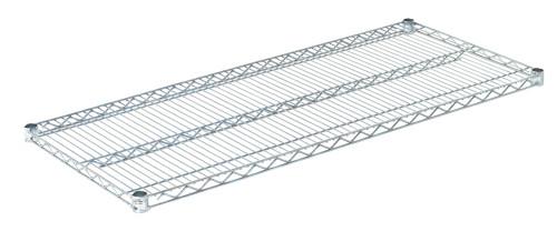"""Olympic J2148C Wire Shelf, Chromate, 21"""" x 48"""""""