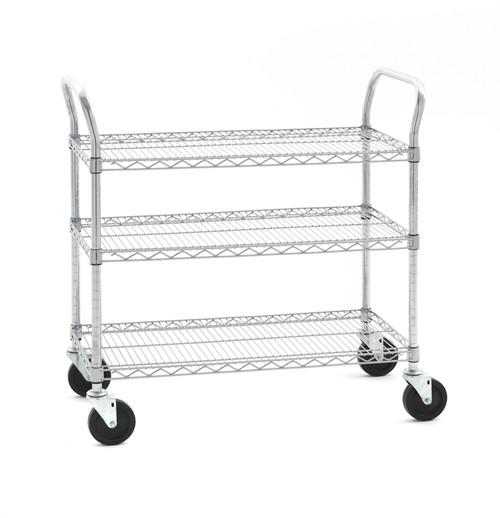 """Olympic J1836WC-3-SR 3-Shelf Wire Utility Cart, 18"""" x 36"""""""
