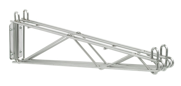 """Olympic J2WD24C Direct Wall Mount, Double Support, Chrome, 24"""""""