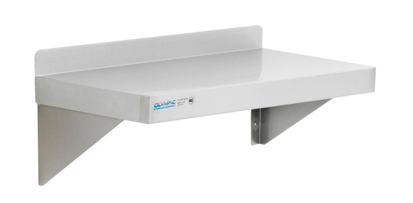 """Olympic JWS1224SS Stainless Steel Solid Wall Shelf, 12"""" x 24"""""""