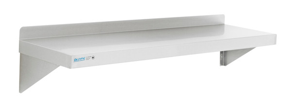 "Olympic JWS1248SS Stainless Steel Solid Wall Shelf, 12"" x 48"""