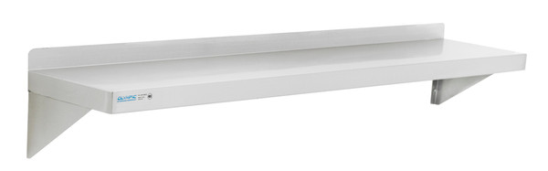 """Olympic JWS1260SS Stainless Steel Solid Wall Shelf, 12"""" x 60"""""""